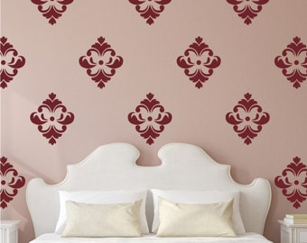 Damask  12 Graphics Set - Vinyl Wall Decals Stickers Patterns, Flowers patterns wall decal sticker