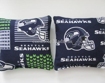 Seattle Seahawks NFL Cornhole Bags Corn hole Corn Toss Baggo Set of 8