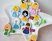 Princess Hair Clips- Perfect Gift for Preschool, Toddler, School-Age Girls- Inspired by Tinkerbell, Elsa, Rapunzel, Cinderella, Belle, More
