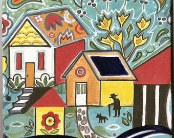 Paisley House, Home Art Tile