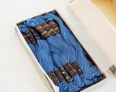 Vintage Copenhagen Blue Cotton Embroidery Floss in original box