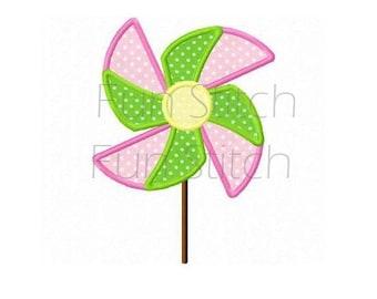 pinwheel applique machine embroidery design