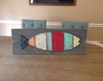 Pallet wood fish art
