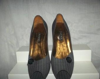 Vintage heels  1980's Smokey Grey