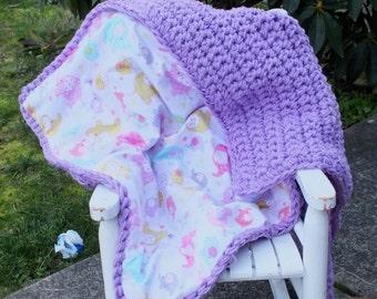 Baby girl elephant blanket purple baby girl blanket purple crochet blanket elephant crochet blanket flannel blanket elephant baby blanket