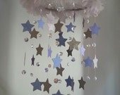 SMALL Crystal and Star Crystal Chandelier Nursery Baby Mobile Shabby Chic Nursery Crystal Photography Prop
