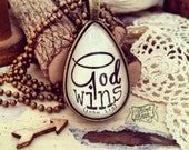 God wins (John 1:5) necklace