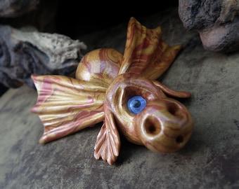Cyclops Dragon Changeling 'Una' one eyed Defender of Cirrus Realm OOAK Sculpt by Sculpture Artist Ann Galvin
