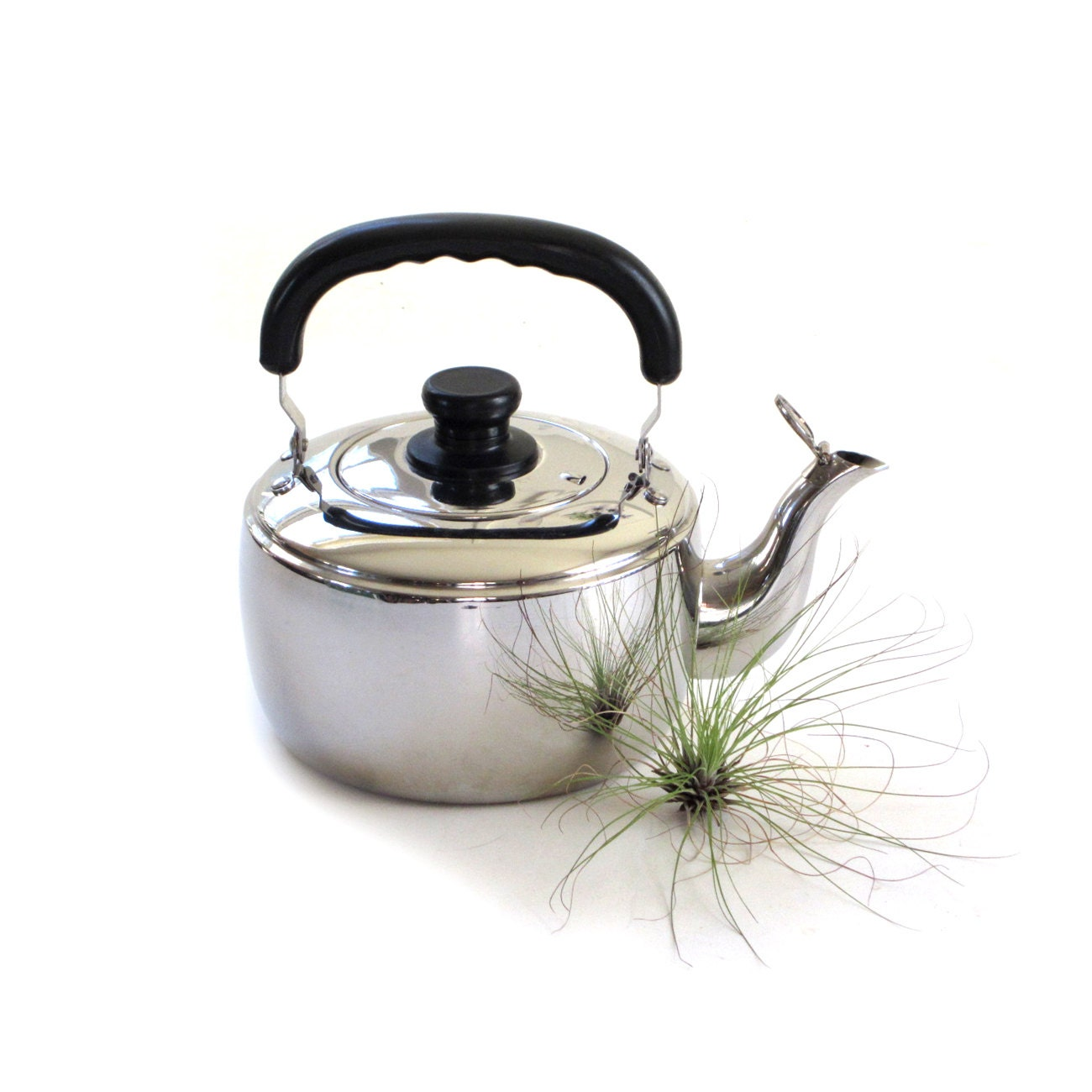 Vintage tea kettle casati aramco imports stainless steel 6 cup - Cup stainless steel teapot ...