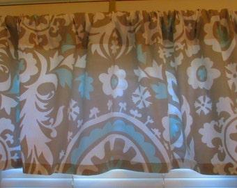 Sale  Window Curtain-Valance Premier Prints Powder Blue Suzani