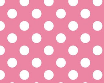 Dots Medium Hot Pink by RBD Designers for Riley Blake, 1/2 yard