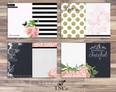 Floral chalkboard Printable Journal pages, Junk journal, Glitter pages download, Memory album