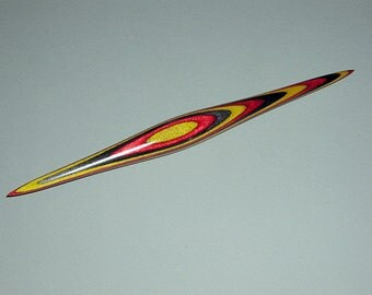 Phang style supported spindle, #90, with inlaid colors