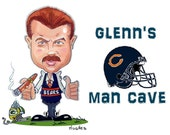 chicago bears  man cave sign   caricatures