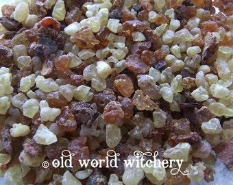 1 oz Pure Frankincense & Myrrh Resins Sacred Ritual Incense Blend Purify Bless Consecrate