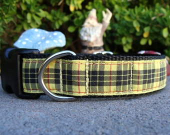 Scottish Dog Collar MacLeod of Lewis Tartan Quick Release buckle or Martingale collar style