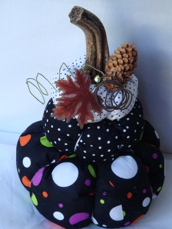 Polka dot 3 tiered pumpkin decoration polka dots pumpkins for 3 tier pumpkin decoration