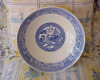 Old Vintage Blue Willow Deep Vegetable Bowl Homer Laughlin 1954