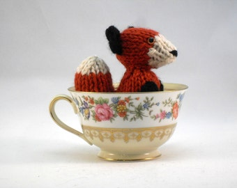 Hand Knit Red Fox