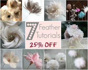 Feather Flower Tutorials, All Feather Flowers, Bouquet Tutorial, PDF Patterns & Tutorials