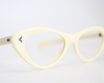 Bone cat eye glasses  vintage cateye eyeglasses frames