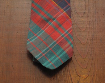 mens vintage Indian madras tie