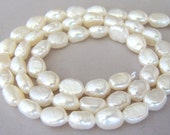 White baroque freshwater pearls, white nugget freshwater pearls, white freshwater pearls, white baroque pearls, 8mm high quality pearls