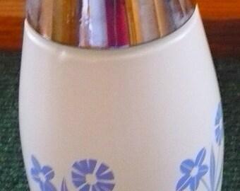 Gemco Glass - Cornflower Blue - Sugar Depenser - 1 Manufacture Defect - See Description