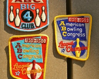 Super cool mid-century bowling jacket or shirt patches.