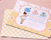 Vintage Paper Doll Invitation Printable
