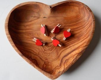 12 - Heart Mini Clothespins