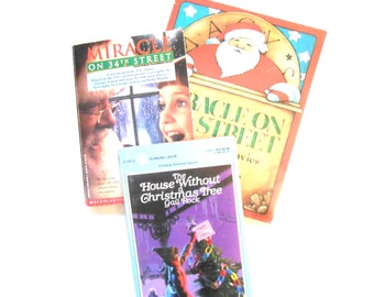 Miracle on 34th Street and The House Without a Christmas Tree, Vintage Children's Christmas Books