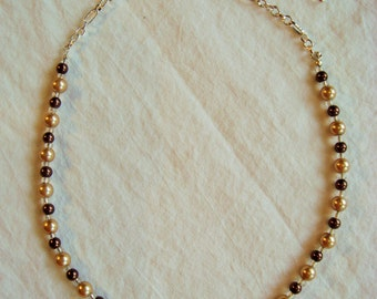 Classy Neutral Beaded Necklace