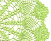 Crochet Wedding Doilies Home Decor doily, lace doilies, table decoration, crocheted place mat, doily tablecloth, table runner, napkin, green
