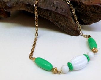 Vintage Avon Bead & Chain Necklace