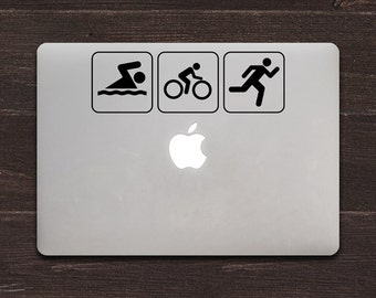Triathlon Vinyl MacBook Decal BAS-0141