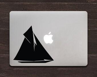 Sailboat Vinyl MacBook Decal BAS-0281