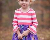 Girls Knit Top Disney Frozen Dress with optional Satin Sash