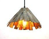 "SAFARI - ""Kazo""  - Wine Barrel Ring Pendant Light - 100% Recycled"