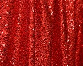 5 feet x 6 feet Ruby Red Shimmer Sequin Fabric Photography Backdrop
