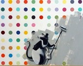 Banksy Canvas (READY TO HANG) - Banksy Does Damien Hurst aka Clean it Up - Multiple Canvas Sizes