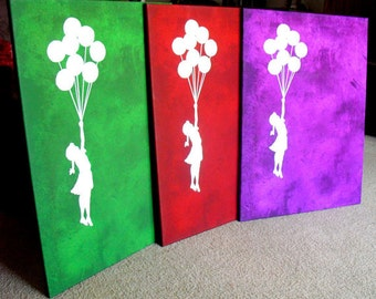 Banksy Canvas (READY TO HANG) - Balloons (any color) - Multiple Canvas Sizes