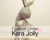 Baby Bunny Rabbit toy eco friendly Natural handmade plush