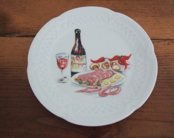 Vintage French Appetizer Plate