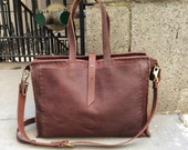 Cherry tote, handmade leather bag, large leather handbag, extra large travel bag, handmade leather totes, handbags & purses by Aixa Sobin