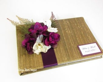 Wedding Guest Book and Pen Set - Enchanted Forest Wedding - Custom Made