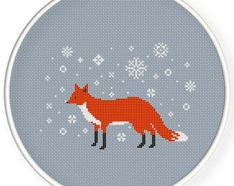 Instant Download,Free shipping,Cross stitch pattern, Cross-StitchPDF,red fox,winter is coming,zxxc0568