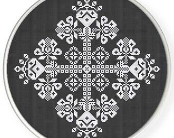 Instant Download,Free shipping,Cross stitch pattern, Cross-Stitch PDF, vintage folk pattern, ,zxxc0599