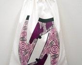 Storage Drawstring Bag Large Shoes Swirl