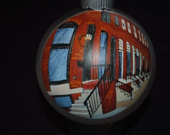 Baltimore Row House Ornament done from picture - sold